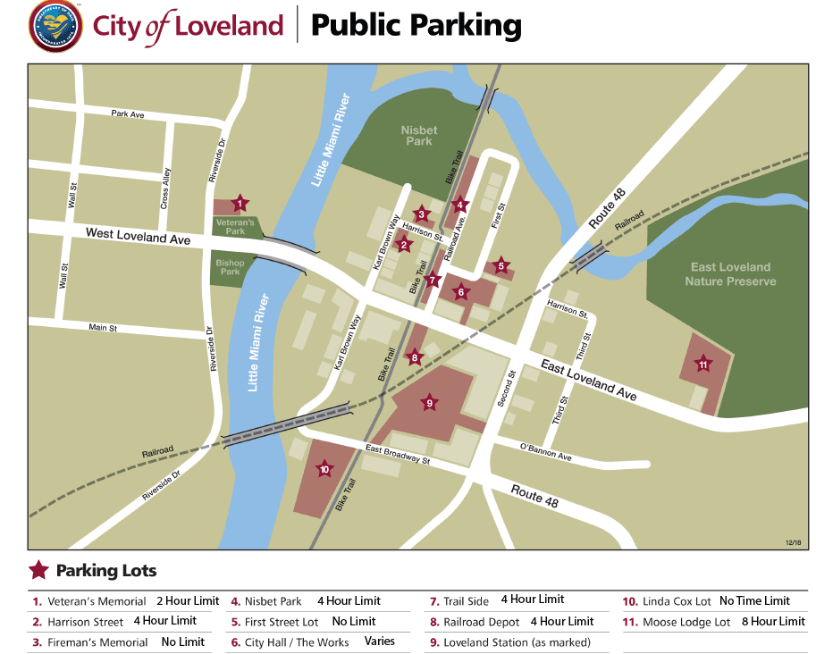 2019 Loveland Parking Map