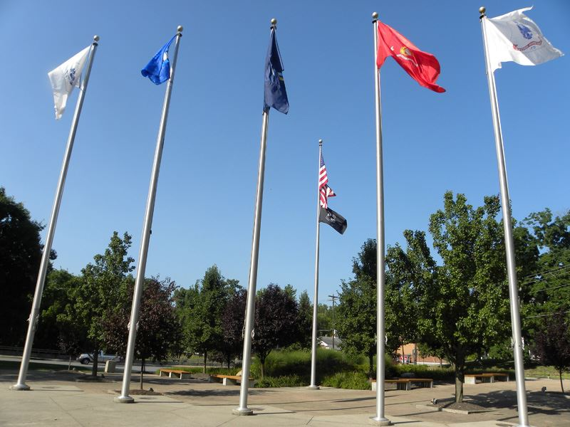 Veterans Memorial Flags